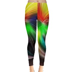 Circle Lines Wave Star Abstract Leggings