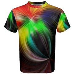 Circle Lines Wave Star Abstract Men s Cotton Tee