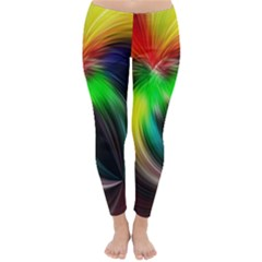 Circle Lines Wave Star Abstract Classic Winter Leggings