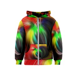 Circle Lines Wave Star Abstract Kids  Zipper Hoodie