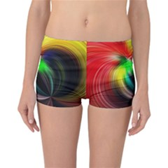 Circle Lines Wave Star Abstract Reversible Boyleg Bikini Bottoms