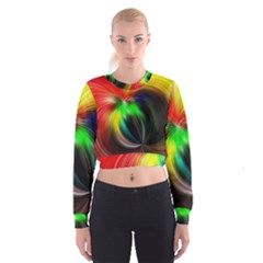 Circle Lines Wave Star Abstract Cropped Sweatshirt
