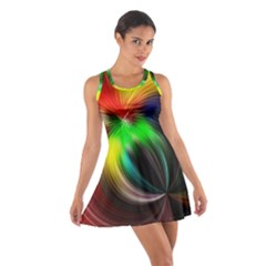 Circle Lines Wave Star Abstract Cotton Racerback Dress