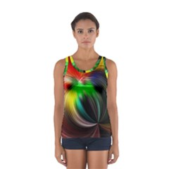 Circle Lines Wave Star Abstract Sport Tank Top