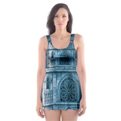 Church Stone Rock Building Skater Dress Swimsuit