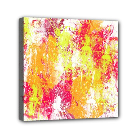 Painting Spray Brush Paint Mini Canvas 6  X 6