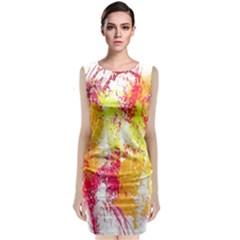Painting Spray Brush Paint Classic Sleeveless Midi Dress