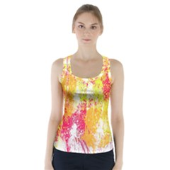 Painting Spray Brush Paint Racer Back Sports Top