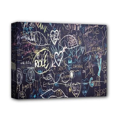 Graffiti Chalkboard Blackboard Love Deluxe Canvas 14  X 11
