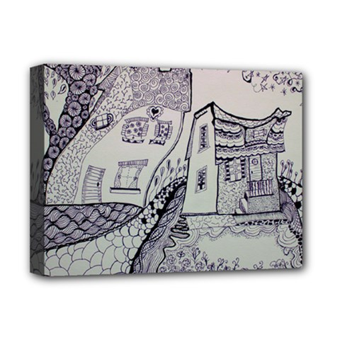 Doodle Drawing Texture Style Deluxe Canvas 16  X 12