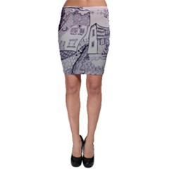 Doodle Drawing Texture Style Bodycon Skirt