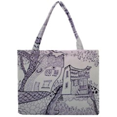Doodle Drawing Texture Style Mini Tote Bag