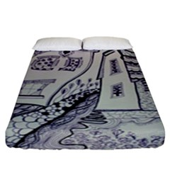 Doodle Drawing Texture Style Fitted Sheet (king Size)