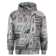 Doodle Drawing Texture Style Men s Pullover Hoodie