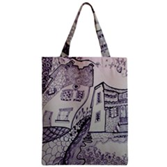 Doodle Drawing Texture Style Zipper Classic Tote Bag