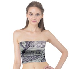 Doodle Drawing Texture Style Tube Top