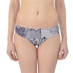 Doodle Drawing Texture Style Hipster Bikini Bottoms