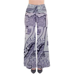 Doodle Drawing Texture Style Pants
