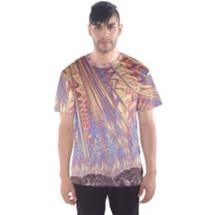 Flourish Artwork Fractal Expanding Men s Sports Mesh Tee