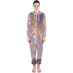 Flourish Artwork Fractal Expanding Hooded Jumpsuit (ladies)
