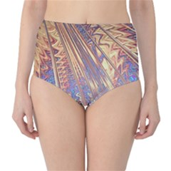 Flourish Artwork Fractal Expanding High Waist Bikini Bottoms