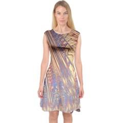 Flourish Artwork Fractal Expanding Capsleeve Midi Dress