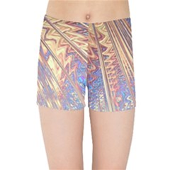 Flourish Artwork Fractal Expanding Kids Sports Shorts