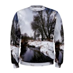 Winter Bach Wintry Snow Water Men s Sweatshirt