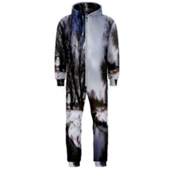 Winter Bach Wintry Snow Water Hooded Jumpsuit (men)