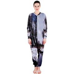 Winter Bach Wintry Snow Water Onepiece Jumpsuit (ladies)