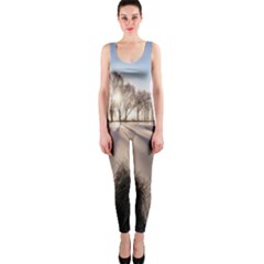 Winter Lake Cold Wintry Frozen Onepiece Catsuit