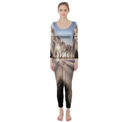 Winter Lake Cold Wintry Frozen Long Sleeve Catsuit
