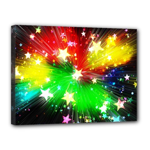 Star Abstract Pattern Background Canvas 16  X 12