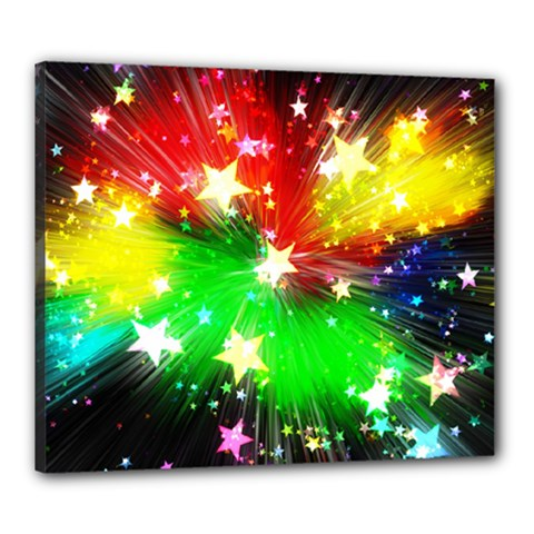 Star Abstract Pattern Background Canvas 24  X 20