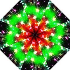 Star Abstract Pattern Background Hook Handle Umbrellas (medium)
