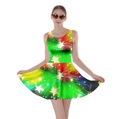 Star Abstract Pattern Background Skater Dress