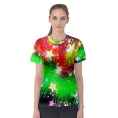 Star Abstract Pattern Background Women s Sport Mesh Tee