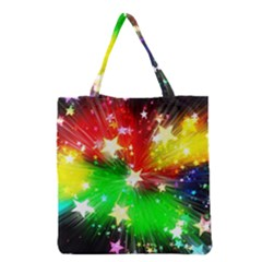 Star Abstract Pattern Background Grocery Tote Bag