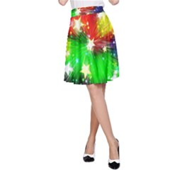 Star Abstract Pattern Background A Line Skirt