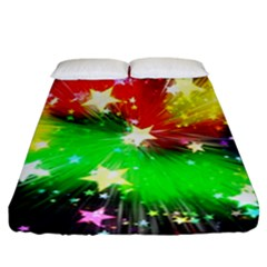 Star Abstract Pattern Background Fitted Sheet (california King Size)