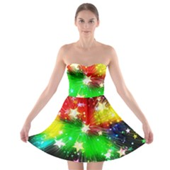 Star Abstract Pattern Background Strapless Bra Top Dress