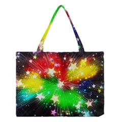 Star Abstract Pattern Background Medium Tote Bag