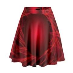 Abstract Scrawl Doodle Mess High Waist Skirt