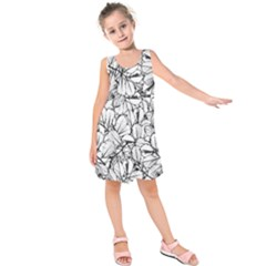 White Leaves Kids  Sleeveless Dress