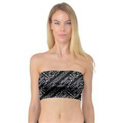 Tribal Stripes Pattern Bandeau Top