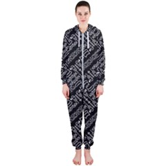 Tribal Stripes Pattern Hooded Jumpsuit (ladies)