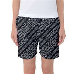 Tribal Stripes Pattern Women s Basketball Shorts
