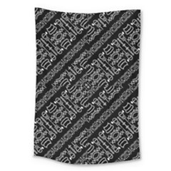Tribal Stripes Pattern Large Tapestry