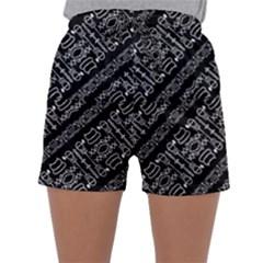 Tribal Stripes Pattern Sleepwear Shorts