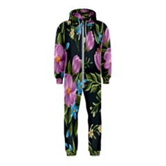 Beautiful Floral Pattern Hooded Jumpsuit (kids)